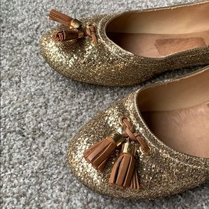 Gold Glitter Sperry Flats